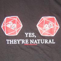 Natural D20 T-shirt